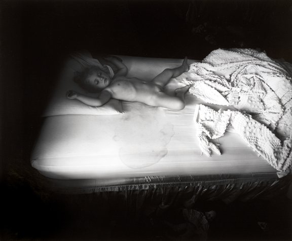 Sally Mann,  The Wet Bed , 1987 Gelatin Silver Contact print 8 x 10 inches / 20 x 25.5 cm Edition of 25