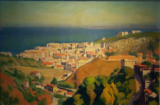 Vue d'Alger, Fontatrabie et le Jaisquibel, 1926 Oil on canvas,16 x 24 inches (40 x 61 cm) Signed lower left: Marquet Price upon request
