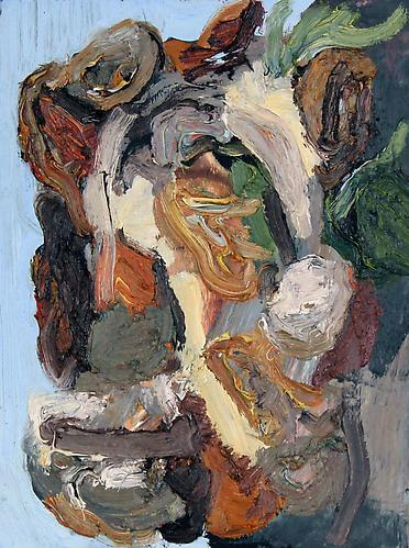 COLIN MUIR DORWARD | MASK STUDY | OIL ON WOOD | 8 X 6 INCHES | 2014