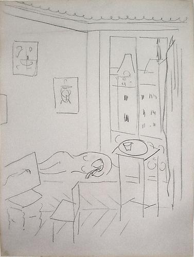 Henri MATISSE Study for Studio Quai St. Michel, 1916 Pencil on paper 28 ¾ x 22 inches