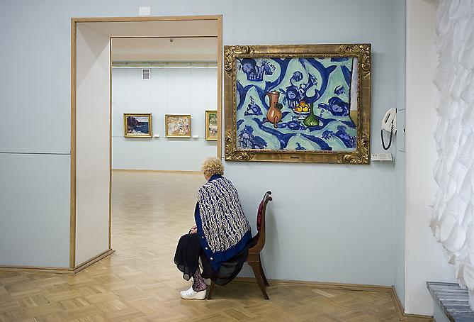 Andy Freeberg,  Henri Matisse's Still Life with Blue Tablecloth, State Hermitage Museum , 2008 Archival pigment print