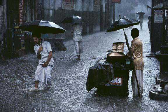 Man in Monsoon 1983 C-type print on Fuji Crystal Archive paper