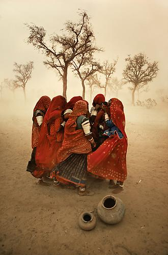 Dust Storm, Rajasthan, India 1983 C-type print on Fuji Crystal Archive paper