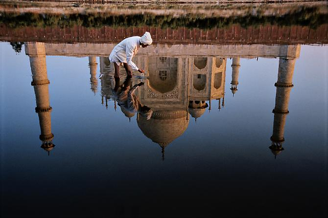 Man and Taj Reflection, Agra, India 1999 C-type print on Fuji Crystal Archive paper