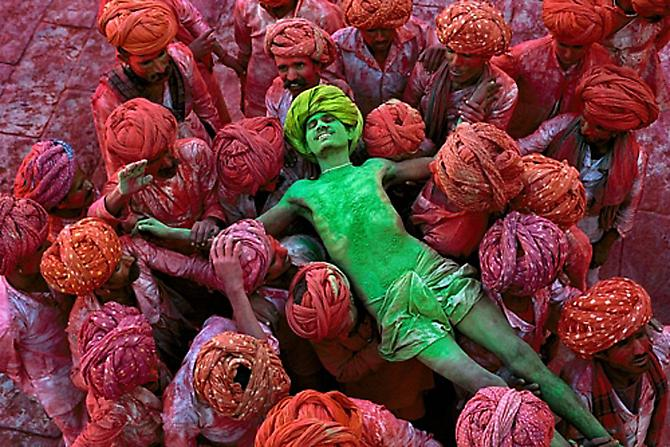 Holi Festival, Rajasthan, India 1996 C-type print on Fuji Crystal Archive paper