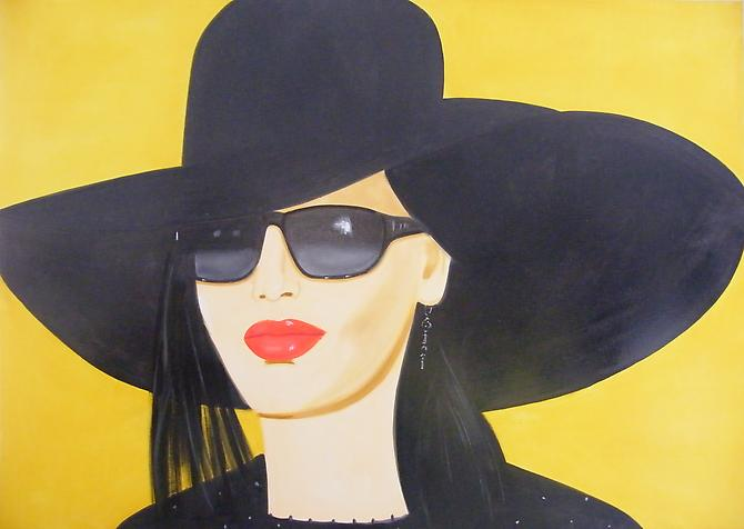 Mie  Alex Katz, 2010 oil on linen 60 x 84 inches