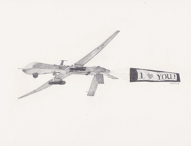 I LOVE YOU!, 2009 Graphite on paper 8.5 x 10.5 inches