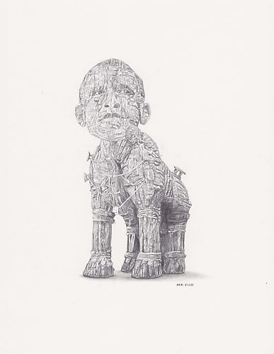 Trojan Horse, 2009 Graphite on paper 10.5 x 8.5 inches