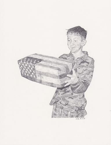 The Gift, 2008 Graphite on paper 10.5 x 8.5 inches