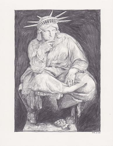 America, 2010 Graphite on paper 10.5 x 8.5 inches