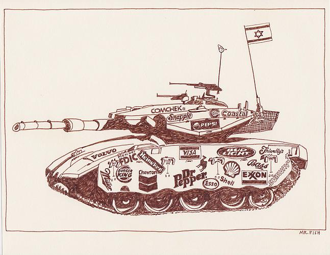 Tank, 1997 Ink on paper 8.5 x 10.75 inches