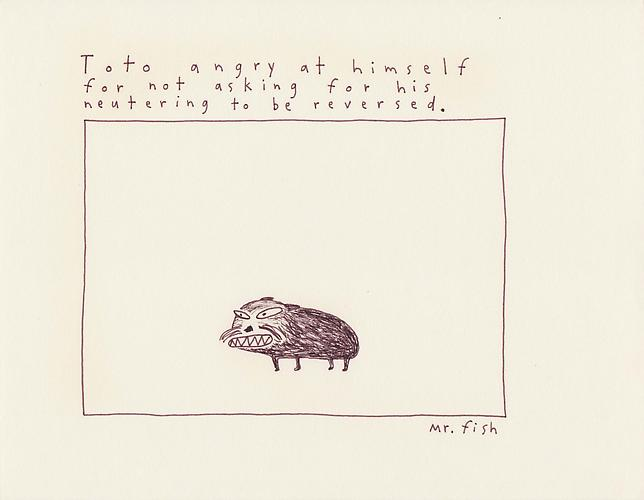 Toto Angry, 1992 Ink on paper 8.5 x 10.75 inches