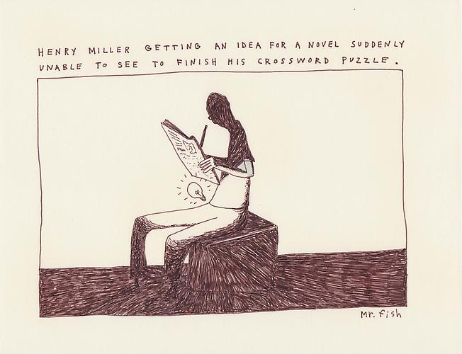 Henry Miller, 1993 Ink on paper 8.5 x 10.75 inches