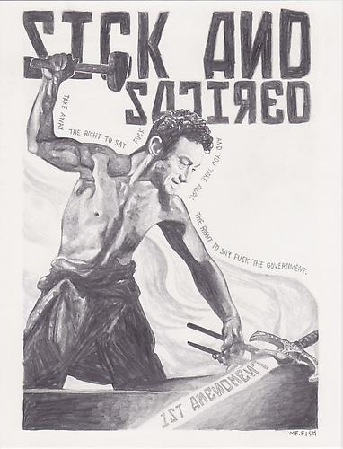 Sick and Satired, 2010 Graphite on paper 10 x 7.75 inches