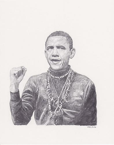 Black Power Broker, 2010 Graphite on paper 9.75 x 7.75 inches