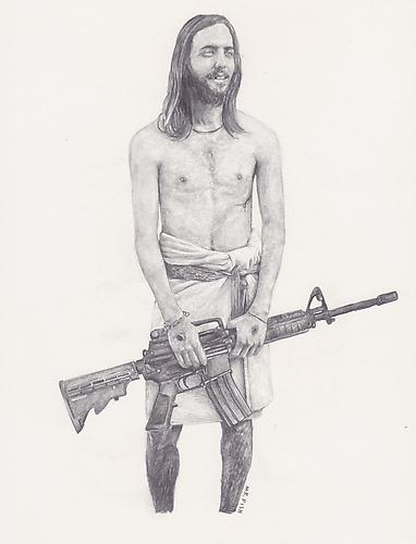Jesus, 2007 Graphite on paper 10.5 x 8.5 inches
