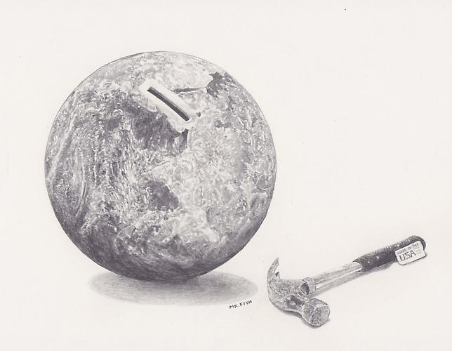 Made in the USA, 2009 Graphite on paper 8.25 x 10.75 inches