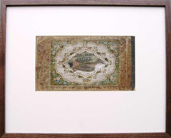 "Varujan Boghosian, 2007  Nest Egg , collage 17.25"" x 13"""