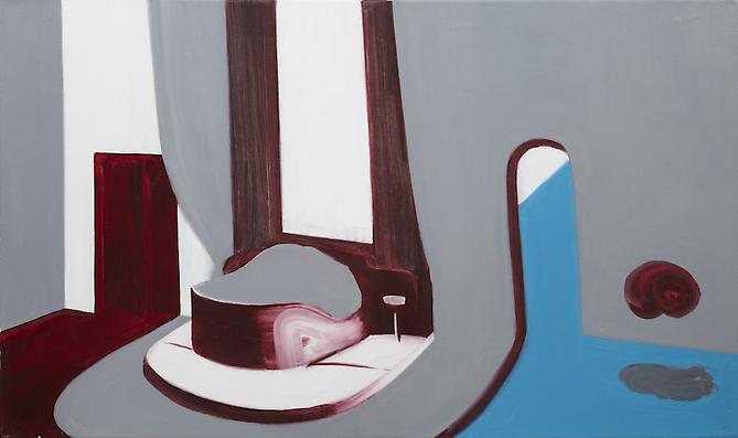 Interior 2 (Ocean Liner) , 2010 Oil on canvas 25 x 42 inches