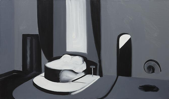 Interior 2 (Snail Song) , 2010 Oil on canvas 25 x 42 inches