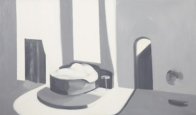 Interior 2 (Mirror) , 2010 Oil on canvas 25 x 42 inches