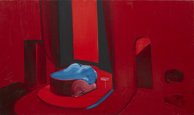 Interior 2 (Chrome) , 2010 Oil on canvas 25 x 42 inches