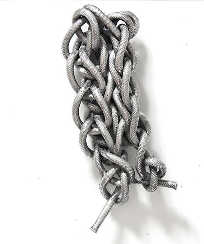Untitled Aluminum cast rope 12 x 5.5 x 2.5 inches 30.5 x 14 x 6.4 cm