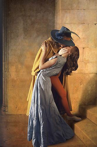 E2: Elizabeth Kleinveld and Epaul Julien  Ode to Hayez' the Kiss , 2011 Ilford Gold Fibre Silk Print 40 x 26 1/2 inches