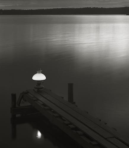 Oil Lamp on Jetty 1989 gelatin silver print