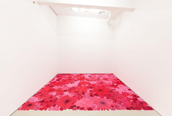 Polly Apfelbaum Pink Crush, 2007 dye on synthetic velvet 115 x 180 inches 292.1 x 457.2 cm