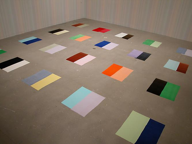 Polly Apfelbaum Compulsory Figures, 1996 synthetic velvet  dimensions variable