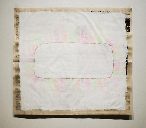 Sorry Folks , 2012, mixed media on paper, 21 x 24.25 inches