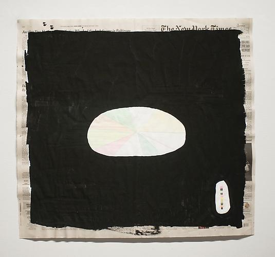 Nuderwater Pie Charting , 2012, mixed media on paper, 21 x 24.25 inches