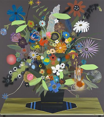 Paul Wackers, Friendly Fire (2011) Acrylic On Panel 41h x 36w in (104.14h x 91.44w cm)