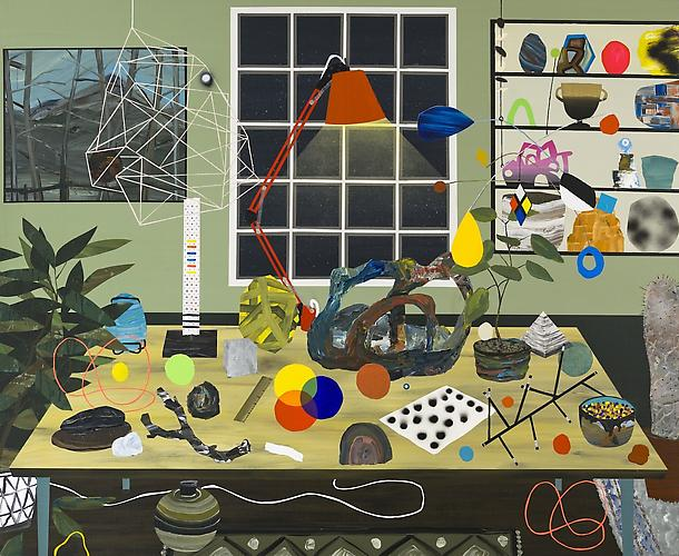 Paul Wackers, The Learning Center (2011) Acrylic On Panel 48h x 60w in (121.92h x 152.4w cm)