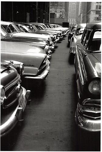 Parking Lot, Manhattan  1956 gelatin silver print
