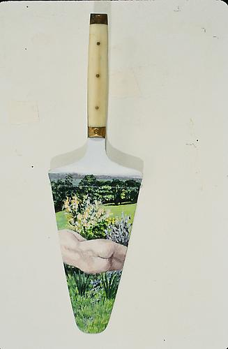 Piece of Cake, 1999 Acrylic Paint on knife 10 x 3 1/4 inches 25.4 x 8.3 cm