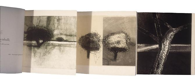 There are six etchings by Peik Larsen, editioned by Anne Beresford, who also helped assemble the book.