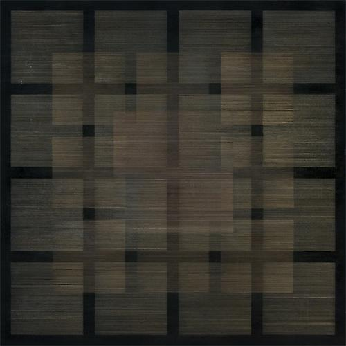Polyphony I, 2013 Silver/gold/copperpoint and black gesso on museum board on panel 30 x 30 x 1 1/4 inches