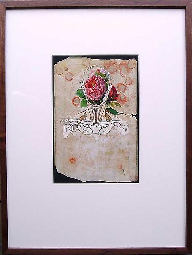 "Varujan Boghosian, 2007  Posada , collage 14.75"" x 19"""