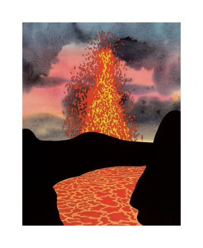 Liquid Rock, 2004 Giclee (edition of 75) 20 x 15 inches $750 plus $235 frame