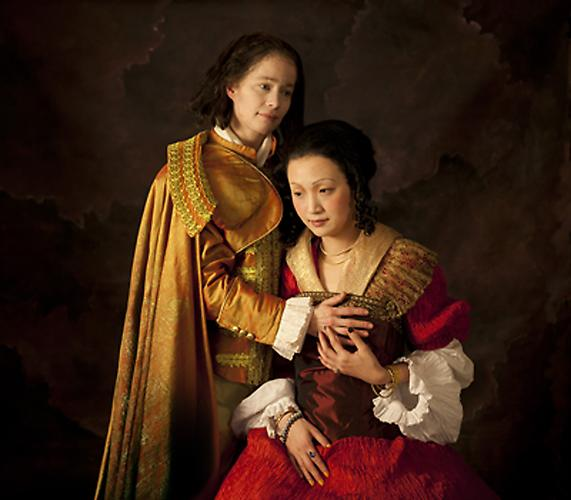E2: Elizabeth Kleinveld and Epaul Julien  Ode to Rembrant's Jewish Bride , 2012 Ilford Gold Fibre Silk Print 36 x 41 inches