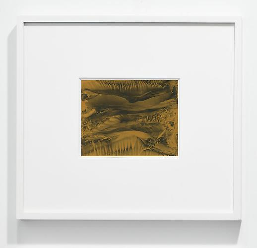 Roland Flexner  Untitled, 2012 gold ink on paper 5 1/2 x 7 inches 14 x 17.8 cm frame size: 17 3/4 x 20 3/4 inches 45.1 x 52.7 cm