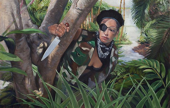 Raina, 2012 Oil on linen 33 x 21 inches