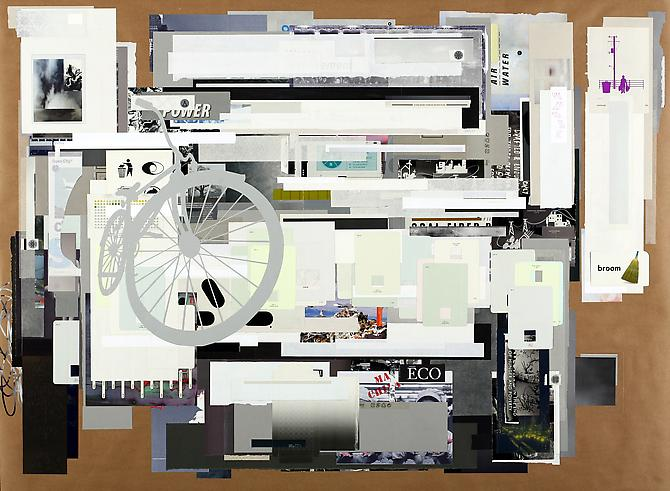 ReCycle Cycle, 2011 paper on paper 44 x 60 inches