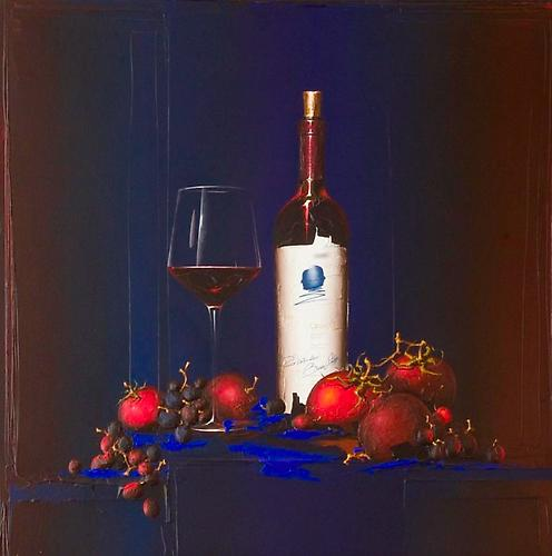 """Red all about it and Drank it too Acrylic on Board 30"""" x 30"""" 40"""" x 40"""" F"""
