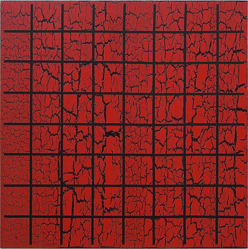 Red Sel, 2011 Acrylic and glue on canvas 48 x 48 inches $26,000