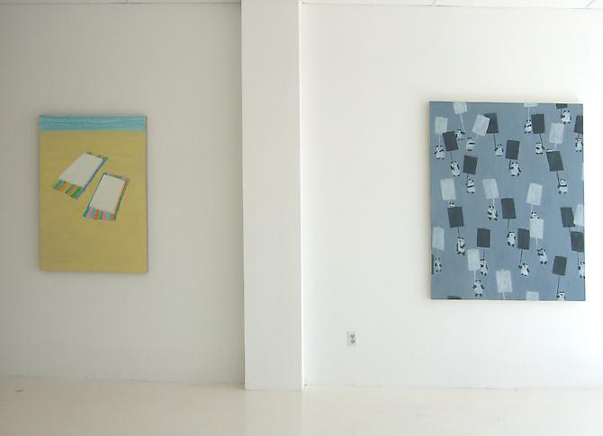 Installation view Didactic Sunset, 2008 Gavlak Gallery