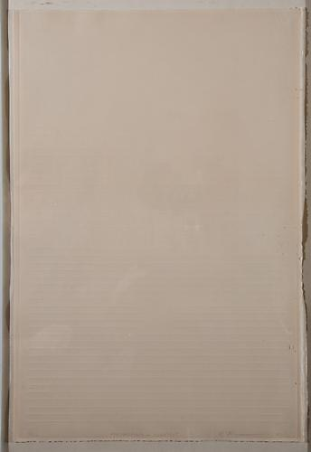 Richard Fleischner  Untitled , 1975 embossed print, 26 x 18 inches Listing #10