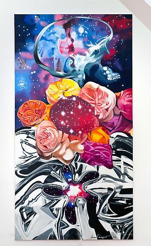 Cevello Spazio Cosmico, 2010 Oil on canvas 240 x 120 inches Not for sale